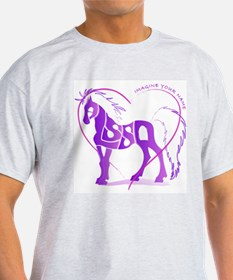 Alyssa purple horse in a heart Ash Grey T-Shirt