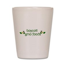 Boycott GMO Foods Shot Glass