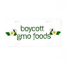 Boycott GMO Foods Aluminum License Plate