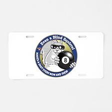 8-Ball Blind Squirrel Aluminum License Plate