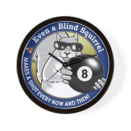 8-Ball Blind Squirrel Wall Clock