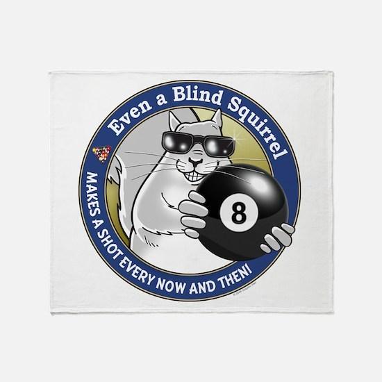 8-Ball Blind Squirrel Throw Blanket