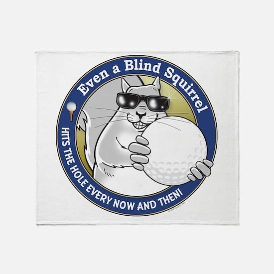 Golf Blind Squirrel Throw Blanket