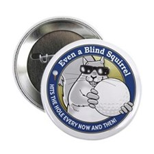 "Golf Blind Squirrel 2.25"" Button"