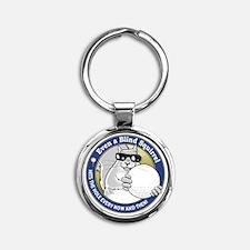 Golf Blind Squirrel Round Keychain