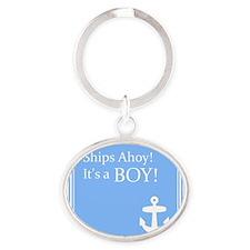Ships Ahoy its a Boy Keychains