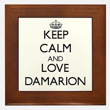 Keep Calm and Love Damarion Framed Tile