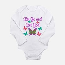 LET GO AND LET GOD Long Sleeve Infant Bodysuit