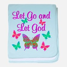 LET GO AND LET GOD baby blanket