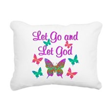 LET GO AND LET GOD Rectangular Canvas Pillow