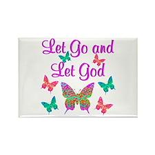 LET GO AND LET GOD Rectangle Magnet (10 pack)