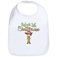 1st Christmas Cowboy Bib