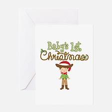 1st Christmas Cowboy Greeting Card
