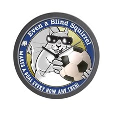 Soccer Blind Squirrel Wall Clock