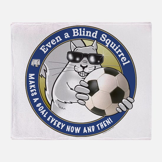 Soccer Blind Squirrel Throw Blanket