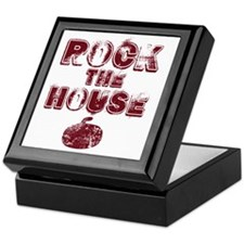 RockTheHouseRed Keepsake Box