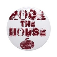 RockTheHouseRed Round Ornament