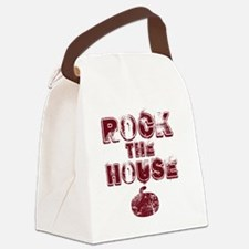 RockTheHouseRed Canvas Lunch Bag