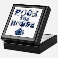 RockTheHouseBlue Keepsake Box