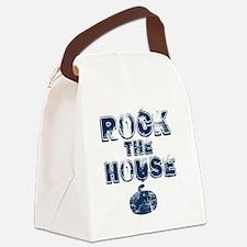 RockTheHouseBlue Canvas Lunch Bag