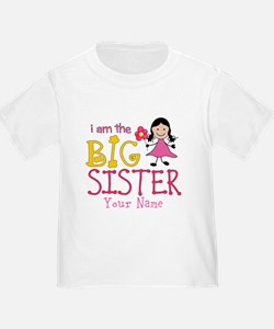 Stick Figure Flower Big Sister T