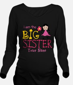 Stick Figure Flower Big Sister Long Sleeve Materni