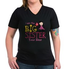 Stick Figure Flower Big Sister Shirt