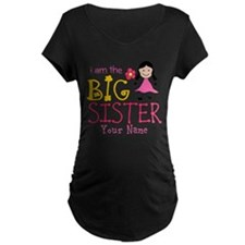 Stick Figure Flower Big Sister T-Shirt