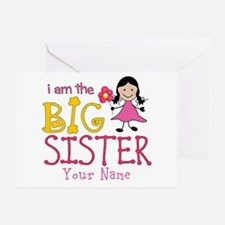 Stick Figure Flower Big Sister Greeting Card
