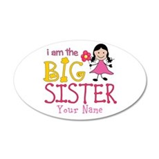 Stick Figure Flower Big Sister Wall Sticker