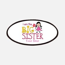 Stick Figure Flower Big Sister Patches