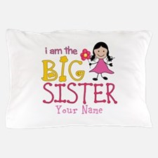 Stick Figure Flower Big Sister Pillow Case