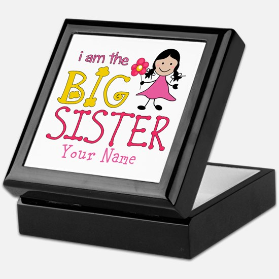 Stick Figure Flower Big Sister Keepsake Box