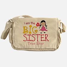 Stick Figure Flower Big Sister Messenger Bag