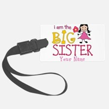 Stick Figure Flower Big Sister Luggage Tag