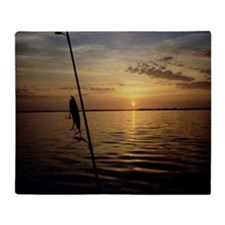 Sunrise Fishing Throw Blanket