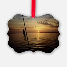 Sunrise Fishing Ornament