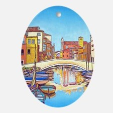 Canal Reflections Lp Oval Ornament