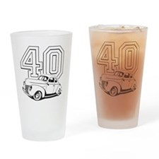 40 ford white Drinking Glass