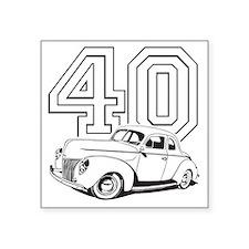 "40 ford white Square Sticker 3"" x 3"""