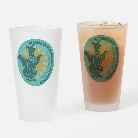 pperro redondo2 Drinking Glass