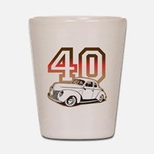 40 ford color Shot Glass