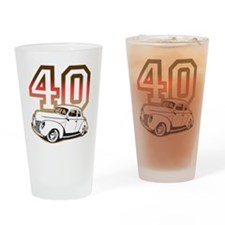 40 ford color Drinking Glass