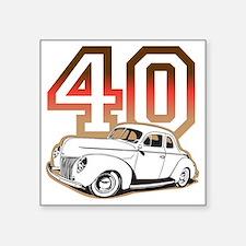 """40 ford color Square Sticker 3"""" x 3"""""""