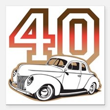 """40 ford color Square Car Magnet 3"""" x 3"""""""