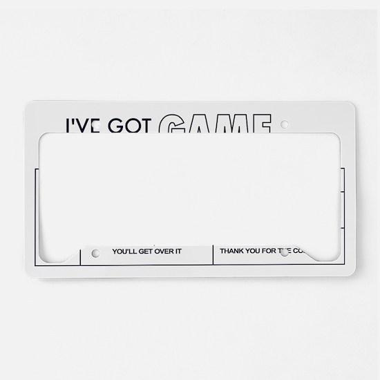 game License Plate Holder