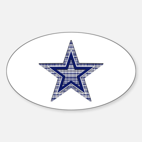 Blue and Silver Plaid Decal