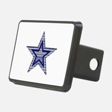 Blue and Silver Plaid Hitch Cover