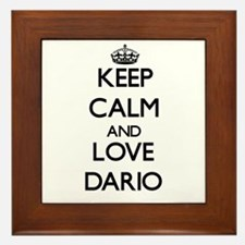 Keep Calm and Love Dario Framed Tile