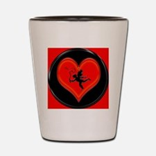 cupid and whip Shot Glass